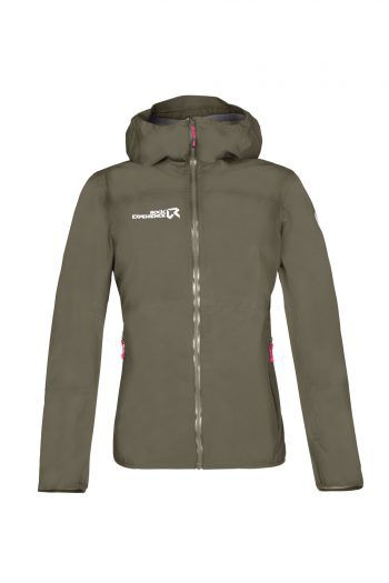 """Die """"High End""""-Regenjacke für Damen der Marke Rock Experience ist wasserdicht, winddicht, hat ein sportliches Design und ist in mehreren Farben erhältlich. Preis: 149,99 Euro."""