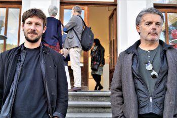 """<p class=""""caption"""">Die Künstler Lukas Weithas und Christian Gerstenmayer.</p>"""