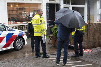 Die Polizei am Tatort. Foto: AFP