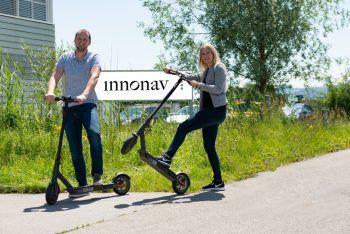 E-Scooter zur Verwendung: INNONAV ist sehr um das Wohl der Mitarbeiter bemüht .