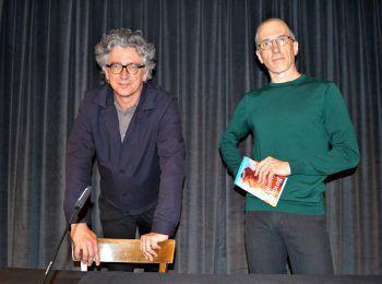 Jürgen Thaler und Autor Hans Platzgumer.
