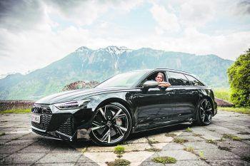 Maria durfte bereits den Audi RS6 vom Autohaus Rudi Lins Probefahren – auch eine Neuerscheinung in diesem Jahr. Fotos: Sams; handout/Daimler; BMW, Audi, Seat, Ford, Hyundai, Porsche, Opel, Mercedes, VW, Renault