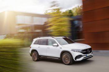 """<p class=""""title"""">               Mercedes EQB             </p><p>Der Mercedes EQB ist eigentlich ein elektrifizierter GLB, die Technik dafür stammt vom EQ. Die stärkste Variante soll über 272 PS leisten. Preis: ab 50.000 Euro.</p>"""
