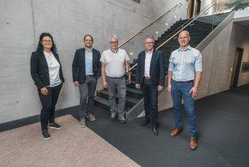 Michaela Berthold (Schriftführerin), Jürgen Haller (Obmann-Stv.), Tobias Stergiotis (Obmann), Reinhard Wachter (Kassier) und Christian Zver (Geschäftsführer).Foto: handout Christian Zver