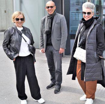 """<p class=""""caption"""">Sabine Nussbichler, Stadtrat Michael Rauth und Elke Vögel (Schuhaus).</p>"""