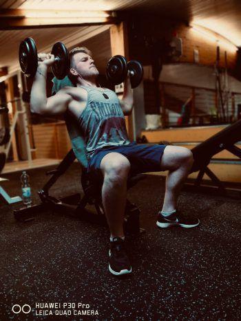 """<p class=""""caption"""">Vor der Corona-Zeit ging Daniel mindestens viermal in der Woche ins Fitnessstudio.</p>"""