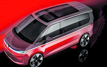 """<p class=""""title"""">               VW T7             </p><p>Mit neuem Design und Innenraum inklusive digitalem Cockpit macht der VW Bus einen großen Schritt Richtung Pkw. Mitte Juni soll der T7 auf dem Markt eingeführt werden, Bei den Motoren wird VW auf Benziner und Diesel mit Mildhybridsystem sowie auf einen Plug-in-Hybriden setzen.</p>"""