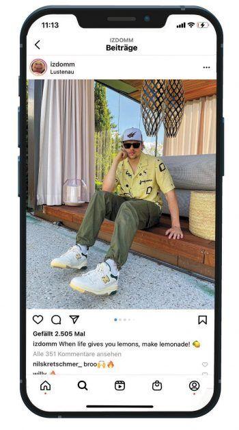 Der Fashion-Influencer holt sich seine Inspirationen unter anderem von Accounts, die einen ähnlichen Content wie er selbst publizieren, oder aber auch von bekannten Musikern wie Travis Scott oder A$AP Rocky. Fotos: handout/Haberl