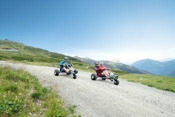 Ein besonderes Erlebnis für alle: Die Fahrt ins Tal mit dem Mountaincart. Fotos: handout/Gargellener Bergbahnen