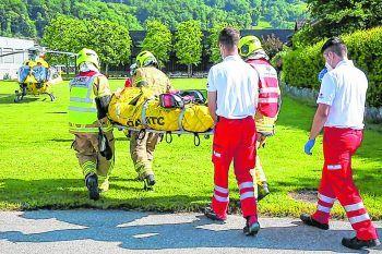 """<p class=""""caption"""">Einer der beiden Männer musste mit dem Notarzthubschrauber ins LKH geflogen werden.</p>"""
