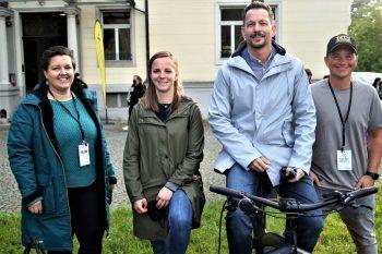 """<p class=""""caption"""">Geschäftsführer von Bregenz Tourismus Robert Salant (Mitte) und sein Team Theresa Kalb, Katja Scholz und Simon Heil.</p>"""