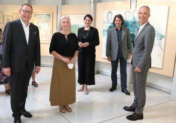 ORF-Landesdirektor Markus Klement, Künstlerin Christine Lingg, Landtagsvizepräsidentin Monika Vonier, Kurator Harald Gfader und ORF-Stiftungsrat Alfred Geismayer.Foto: handout/ORF