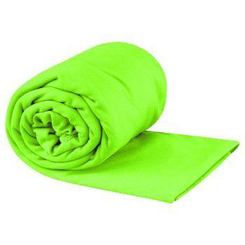"""<p class=""""caption"""">Schnelltrocknendes Handtuch, erhältlich in verschiedenen Farben. Preis: 16,99 Euro.</p>"""