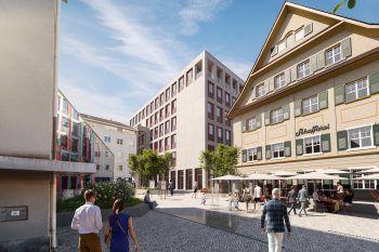 """Urbanes Umfeld             Die """"Schaffarei"""" in Feldkirch als neues Headquarter des Digital Campus Vorarlberg bietetWohlfühlatmosphäre für Austausch und co-kreatives Lernen."""