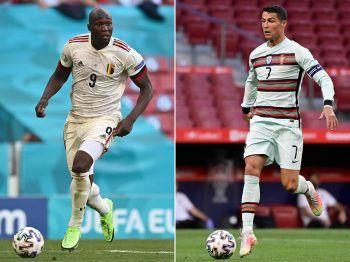 Wer wird das Duell der Stürmerstars für sich entscheiden – Romelu Lukaku oder doch Cristiano Ronaldo? Fotos: APA