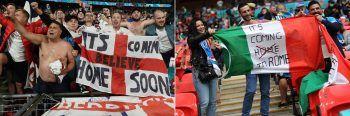 """<p class=""""caption"""">Bei den Fans gehen die Titel-Erwartungen naturgemäß auseinander.Fotos: AP, AFP</p>"""