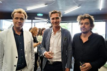 "<p class=""caption"">Daniel Büchel (Interiordesign für Carla), Kulturmanager Jürgen Weißhäupl und Schriftsteller Peter Zilahi.</p>"