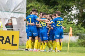 Der VfB Hohenems holt einen Sieg in Wolfurt. Foto: Sams