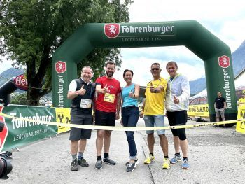 "<p class=""caption"">Harald Witwer, Simon Tschann, LR Martina Rüscher, Richard Föger und Christoph Thoma.</p>"