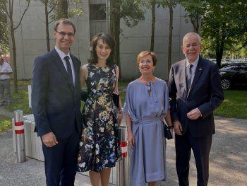 "<p class=""caption"">Landeshauptmann Markus Wallner mit Sonja, Doris Schmidauer und Bundespräsident Alexander van der Bellen.</p>"