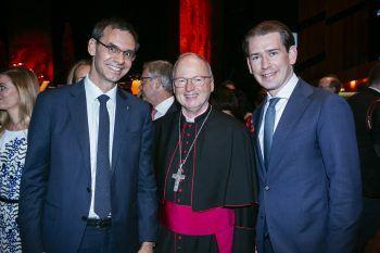 """<p class=""""caption"""">LH Markus Wallner, Bischof Benno Elbs und Bundeskanzler Sebastian Kurz.</p>"""