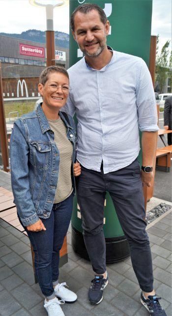 "<p class=""caption"">Nina und Roman Giesinger von der Firma Meusburger.</p>"