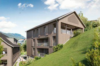 """Die Wohnanlage """"Belinda"""" bietet tolles Wohnen für Singles, Paare und Familien. Fotos: handout/Fussenegger Wohnbau"""