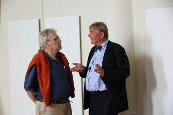 "<p class=""caption"">Referenten Herbert Wessel und Georg Meyer.</p>"