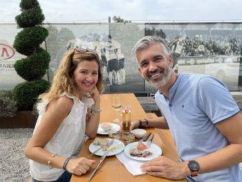 """<p class=""""caption"""">Sanja B. und Michael Benvenuti.</p>"""