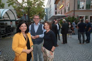 "<p class=""caption"">Abgeordnete Manuela Auer, Christoph Thoma und Gabi Graf.</p>"