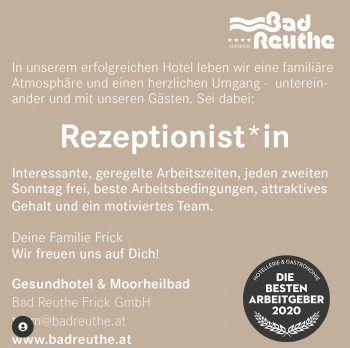 """<p class=""""caption"""">Auch Bad Reuthe sucht Mitarbeiter – mit der """"WANN & WO Jobbörse Vorarlberg"""" werden diese bestimmt gefunden.</p>"""
