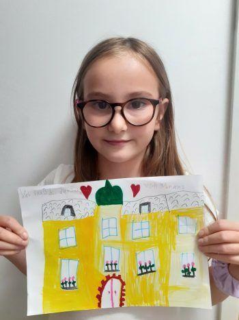 """<p class=""""caption"""">Auch Ceyda hat uns ein Bild gemalt.</p>"""
