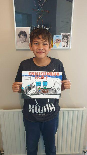 """<p class=""""caption"""">Auch Michael Alessio (10 Jahre) hat uns etwas Tolles gemalt und bekommt dafür 200 Euro WANN & WO-Schulgeld.</p>"""