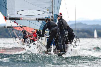 """<p class=""""caption"""">Bereits zum dritten Mal wird die """"Interboot Trophy"""" auf Booten der J/70-Klasse ausgetragen und vom Württembergischen Yacht-Club organisiert.</p>"""