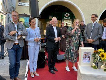 Christian Gantner, Martina Rüscher, Bischof Benno, Wiebke Meyer und LH Markus Wallner.