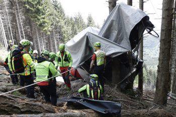 Das Seilbahnunglück in Stresa im vergangenen Mai schockierte die Welt.Foto: AP