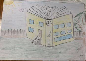 """<p class=""""caption"""">Denis hat seine Schule gemalt und darf sich um 300 Euro bei Panto Outdoor etwas kaufen.</p>"""