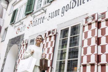 """<p class=""""caption"""">Die Bregenzer Innenstadt ist ideal für einen Einkaufsbummel. Fotos: handout/Bregenz Tourismus, Christiane Setz </p>"""
