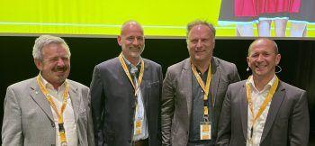 Die Geschäftsführung mit Obmann Lothar Gallaun, Martin Koch, Walter Fritz und Kurt Michelini.