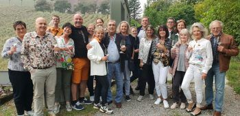 """Die Weinverkostung fand auf dem """"Tiefenrausch Weingut"""" statt. Foto: Richard Elsler"""