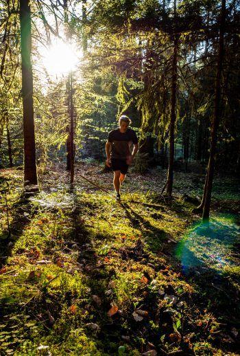 """<p class=""""caption"""">Im Wald hinter dem Schloss und der Alten Schmiede geht Benjamin gerne laufen – hier ist der Erholungsfaktor besonders groß.</p>"""