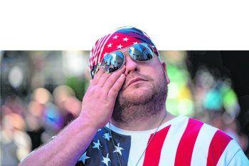 Joe Walker trauerte gestern um die Opfer der 09/11-Attacken.Foto:AFP