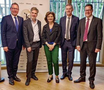 Markus Klement, Dr. Winfried Nußbaummüller, Mag. Jasmine Ölz-Barnay, Bernhard Moosbrugger und Mag. Martin Jäger.