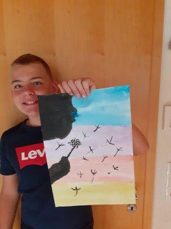 """<p class=""""caption"""">Martin (12) hat sich kreativ ausgetobt.</p>"""