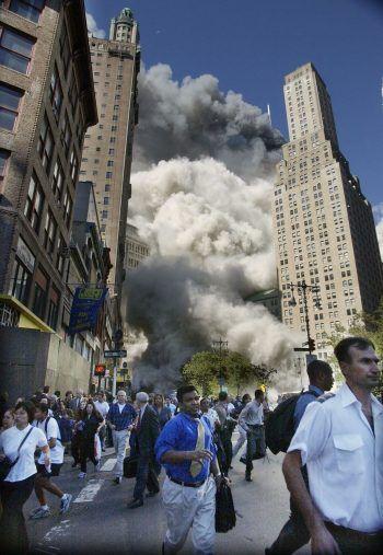 Panik in den Straßen Manhattans.