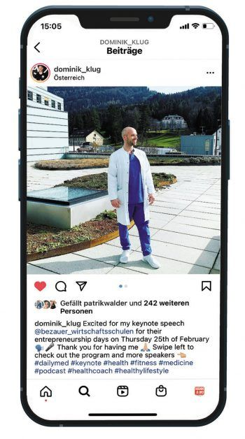 Sein Instagram-Profil beschäftigt Dominik ein bis zwei Stunden täglich. Fotos: handout/Dominik Klug/Celine Vögel/Philip Breuß/Vorarlberger Landesbibliothek