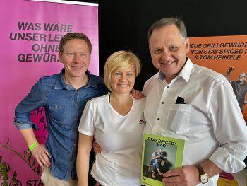 Werner Riedmann, Julia und Helmut Gstöhl.
