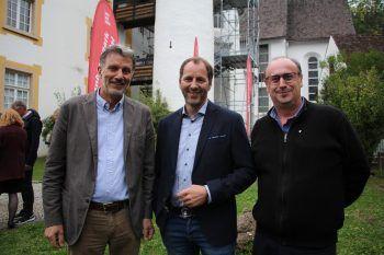 """<p class=""""caption"""">Die Seilbahner: Markus Burtscher, David Domig und Dietmar Tschohl.</p>"""