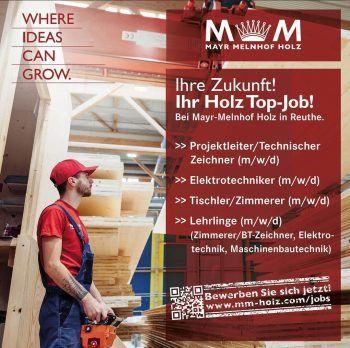 """<p class=""""caption"""">Gestalte deine Zukunft mit Holz: Mayr Melnhof Holz sucht Mitarbeiter – nutz die Chance und bewirb dich!</p>"""