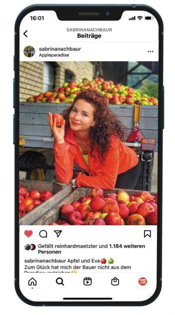 Sabrinas Instagram-Profil besticht durch viele farbenfrohe Fotos.Fotos: handout/Sabrina Nachbaur/Ready2Music